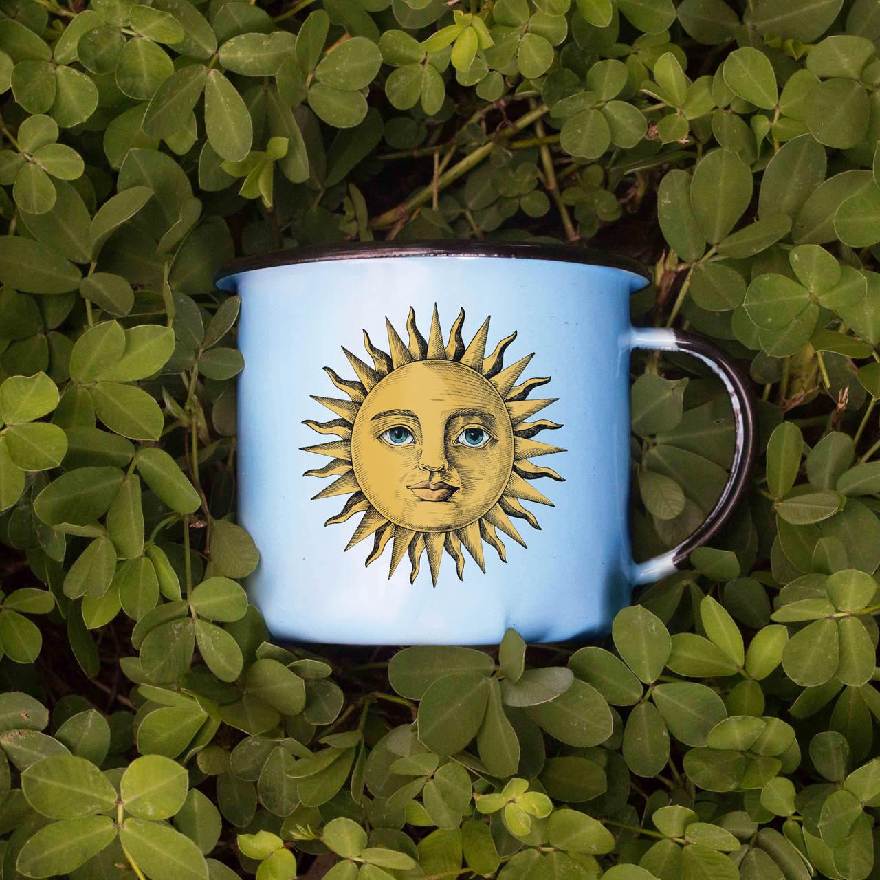 Caneca esmaltada Sol