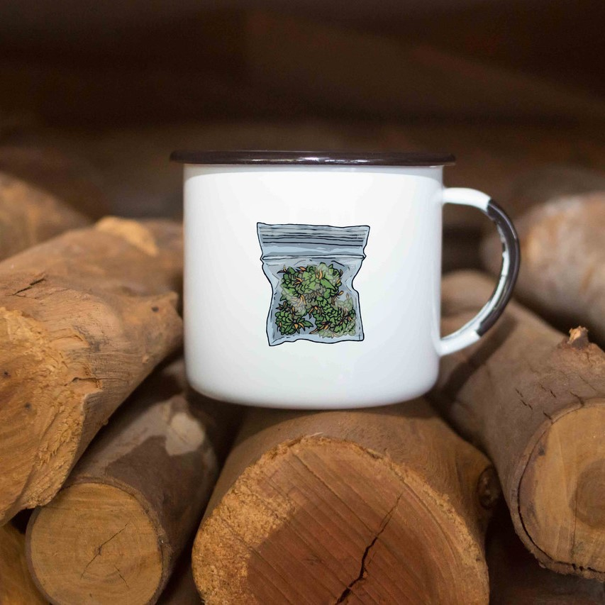 Caneca esmaltada Weed