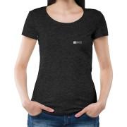 Blusa básica preto mescla (grafite) sustentável
