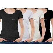 Kit blusa básica feminina 4 peças economize 92 reais