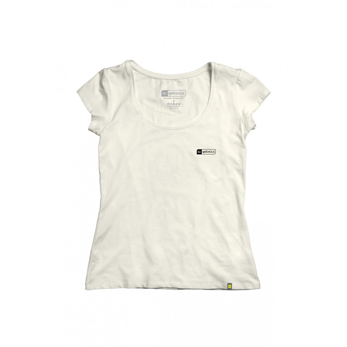 Blusa básica feminina sustentável champagne em malha ecológica