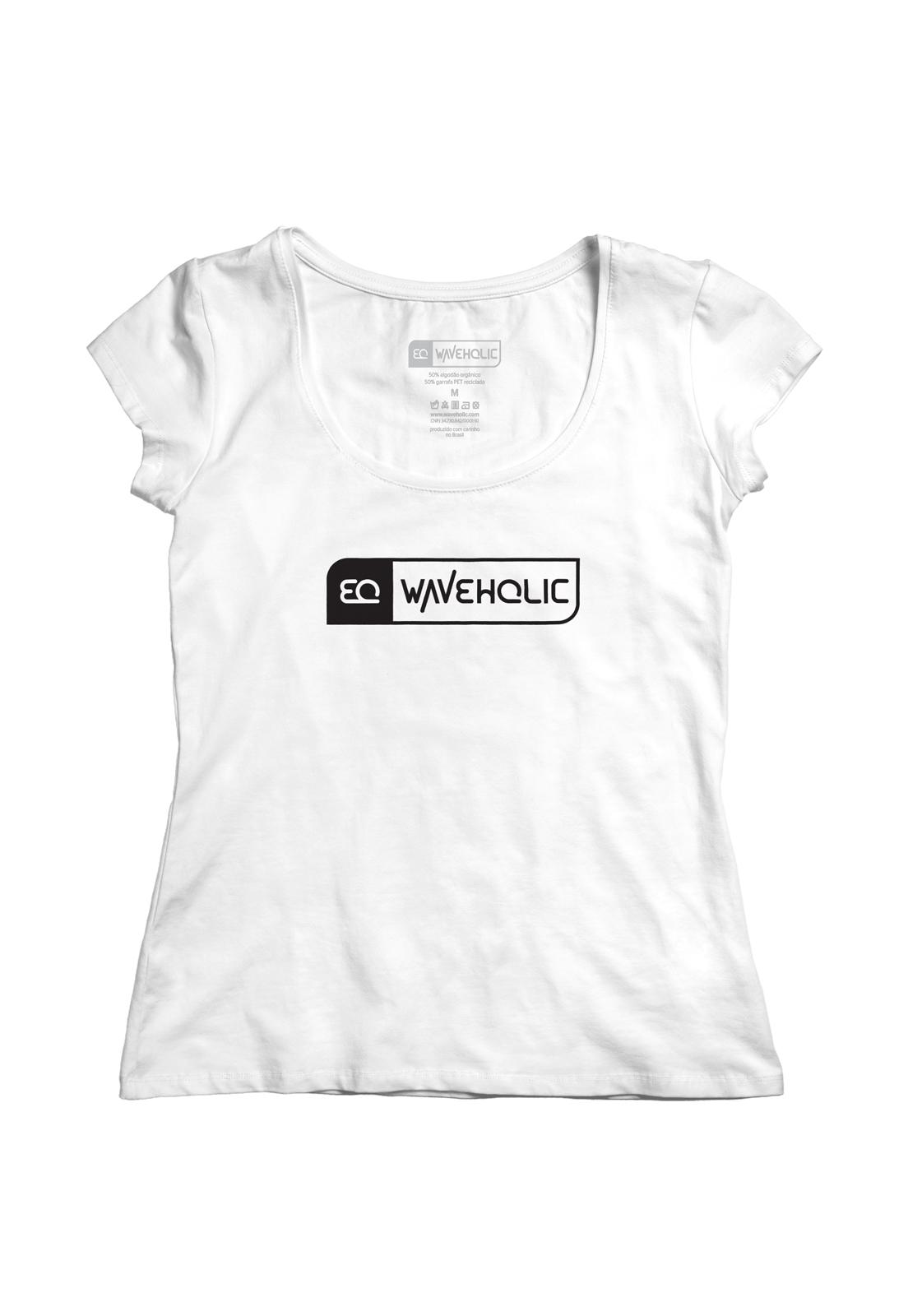 Blusa estampada sustentável logo P&B preta ou branca