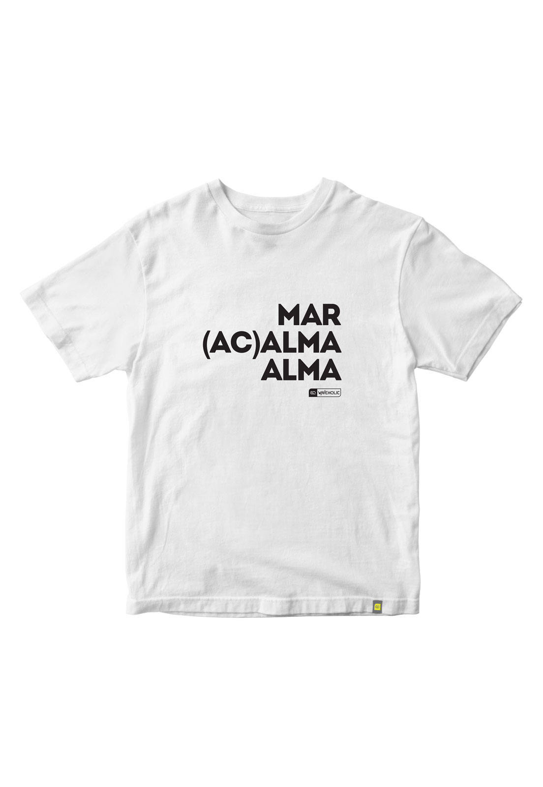 Camiseta com frase mar acalma a alma preta ou branca