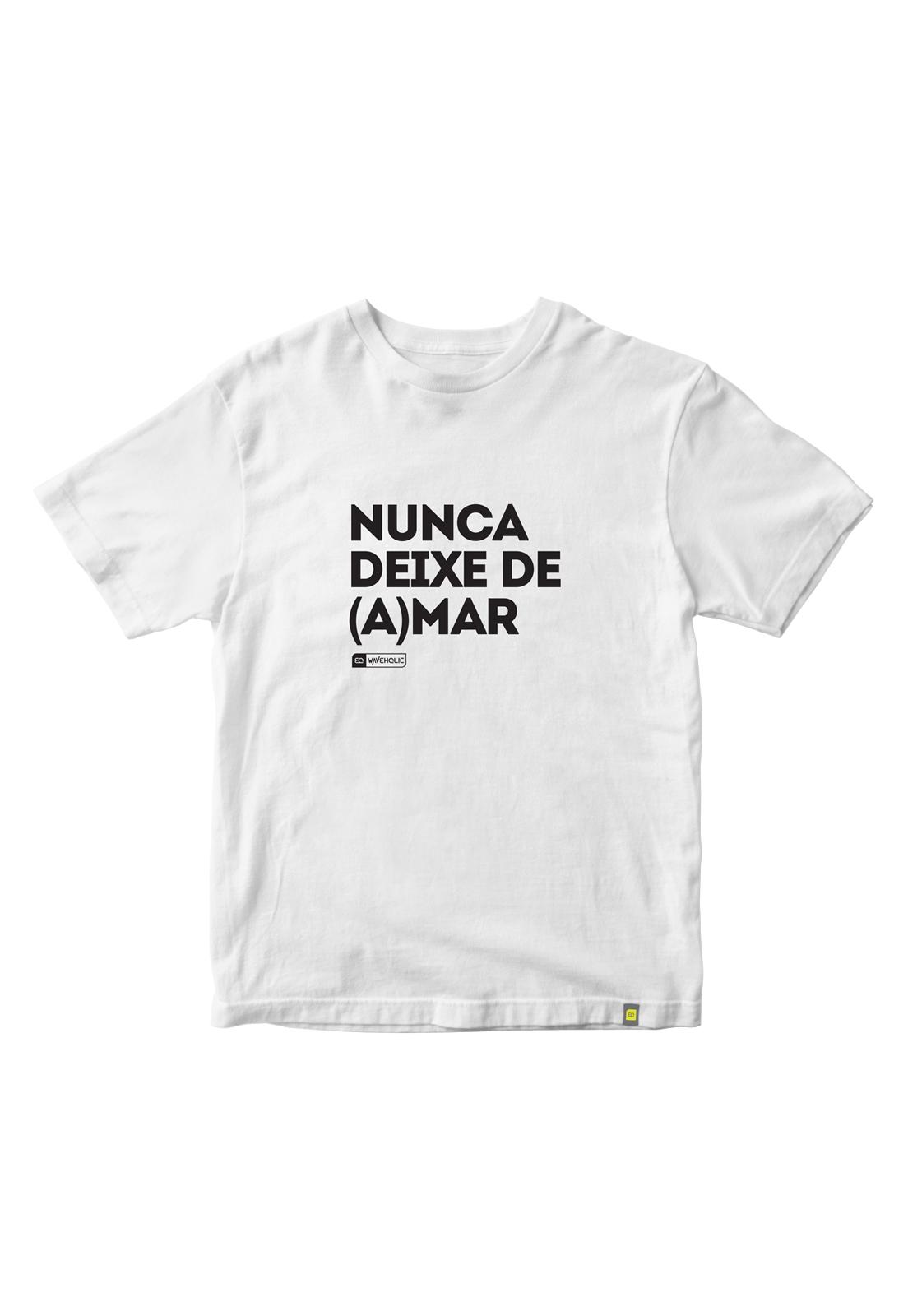 Camiseta com frase nunca deixe de amar preta ou branca