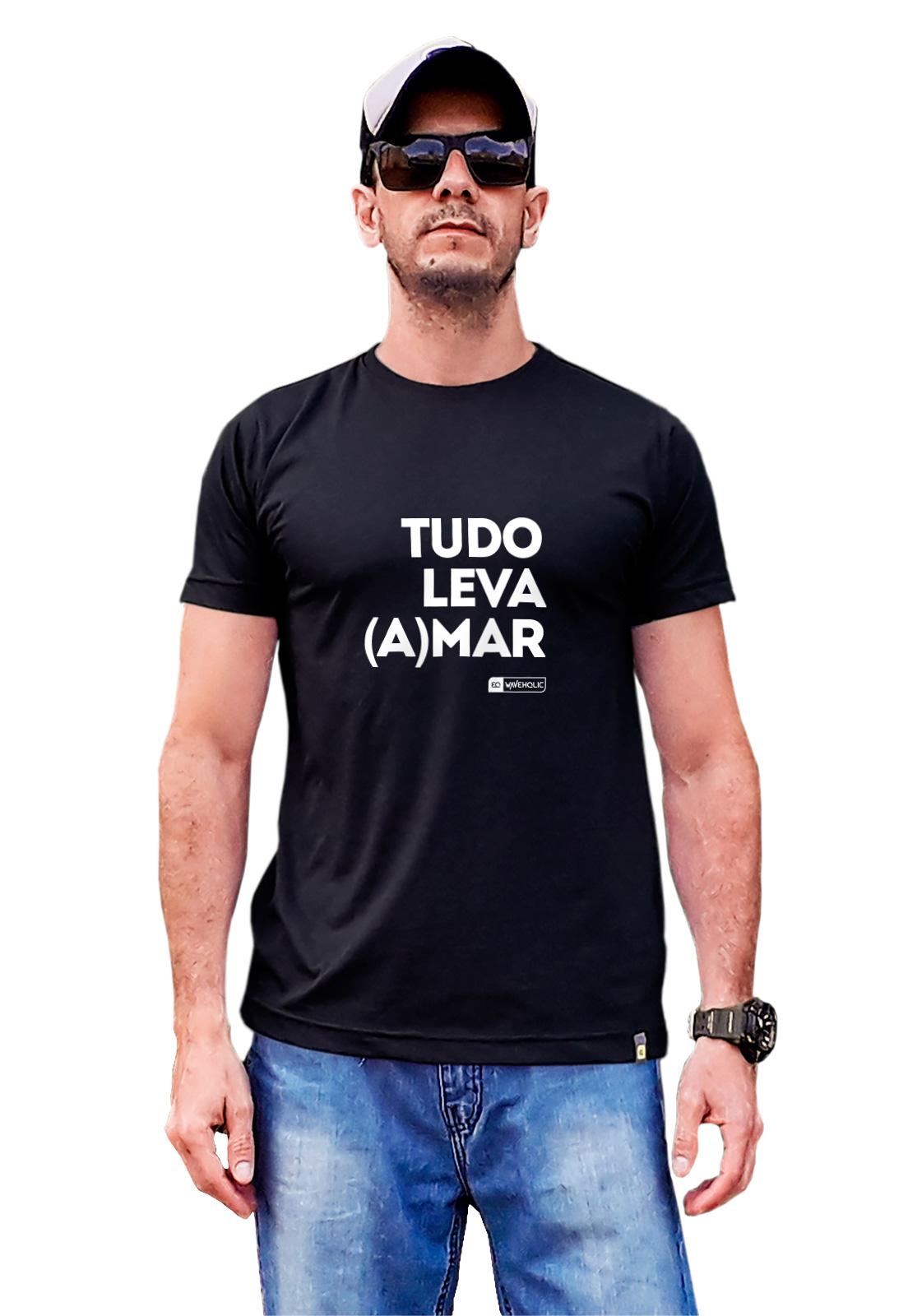 Camiseta com frase tudo leva amar preta ou branca