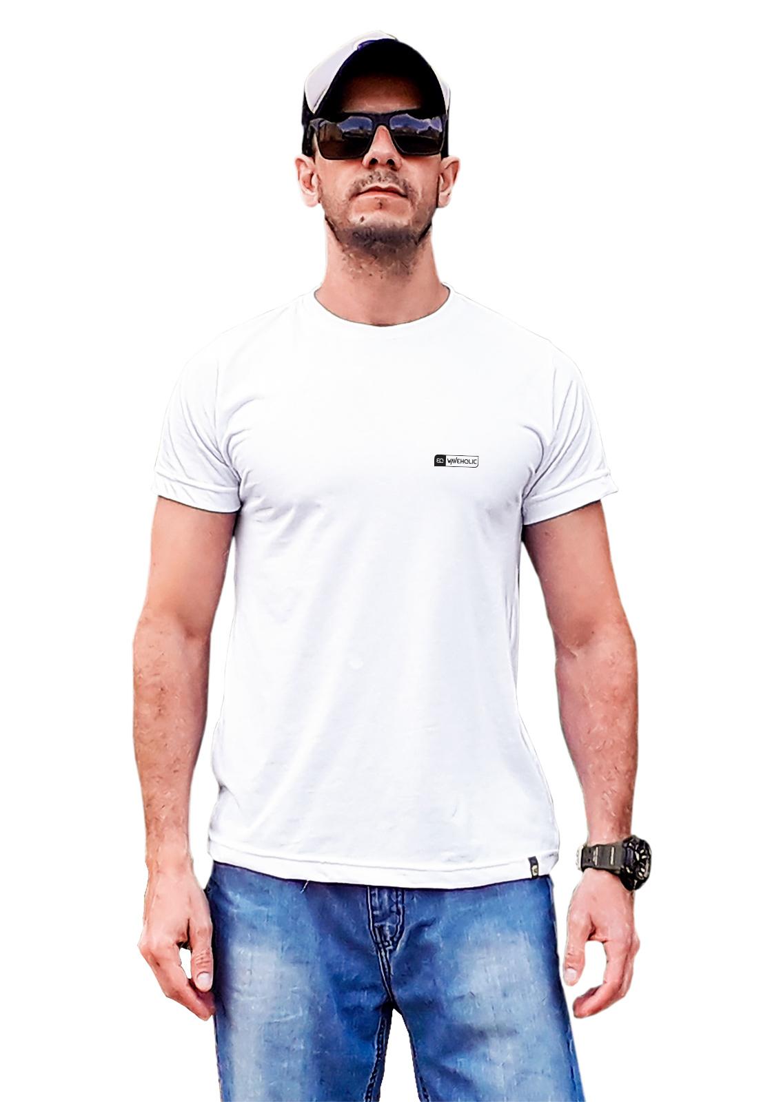 Camiseta sustentável básica branca que preserva