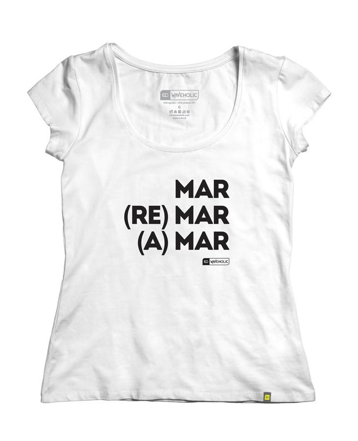 Kit blusa feminina mar remar e amar c/2 peças economize 28 reais