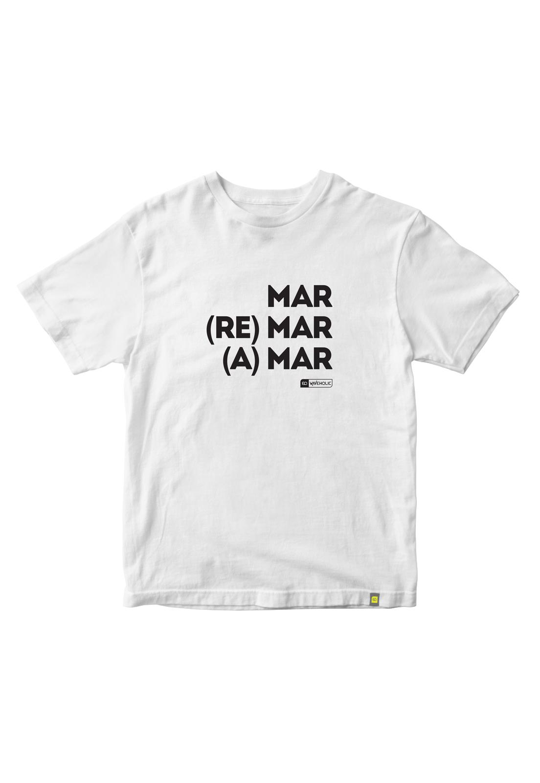 Kit camiseta sustentável mar remar e amar c/2 peças economize 38 reais