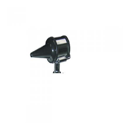 Cabeça de otoscópio com lâmpada e espéculos
