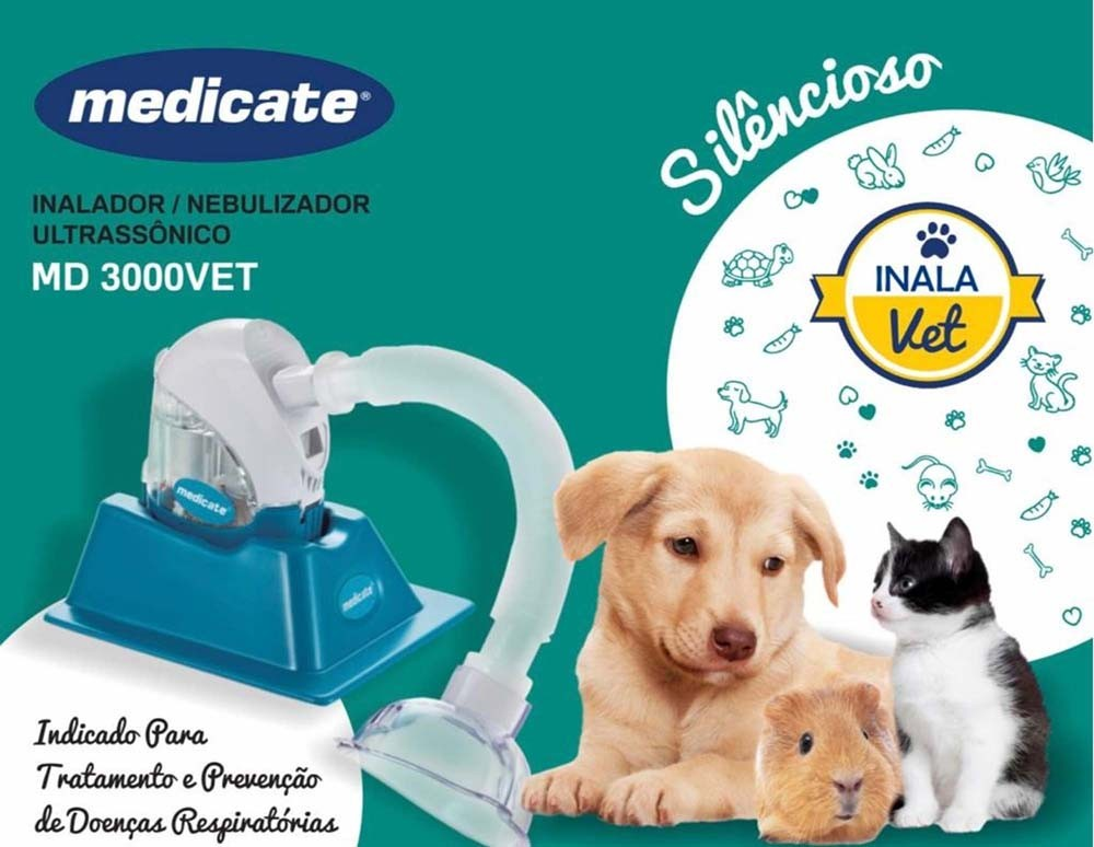 Inalador ULTRASSÔNICO veterinário Medicate