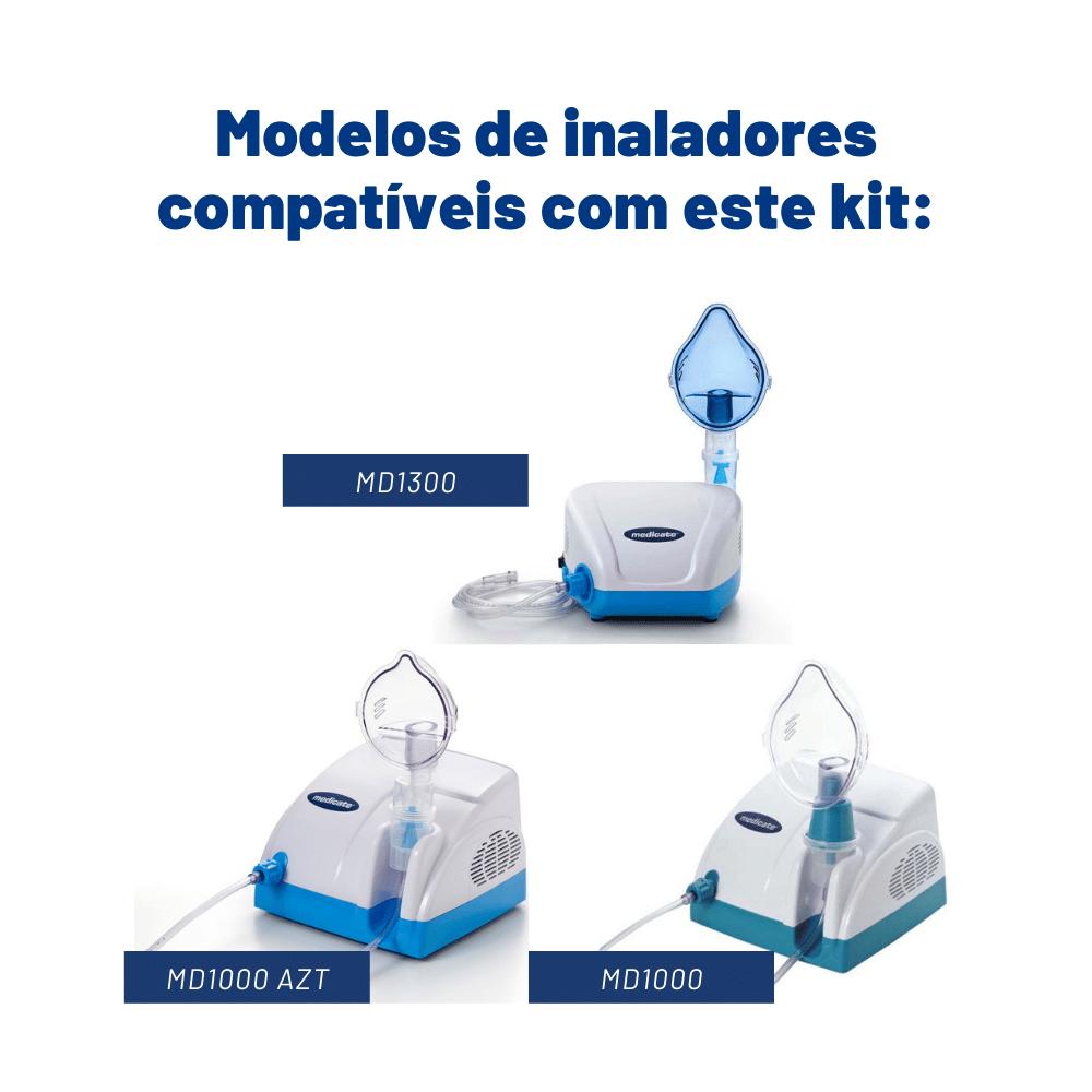 Kit de nebulização copo turbo Medicate (com porca)
