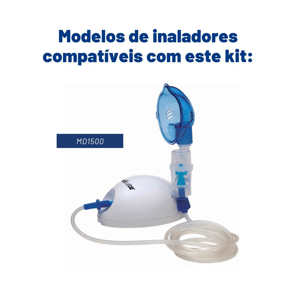 Kit de nebulização flex copo turbo Medicate (sem porca)