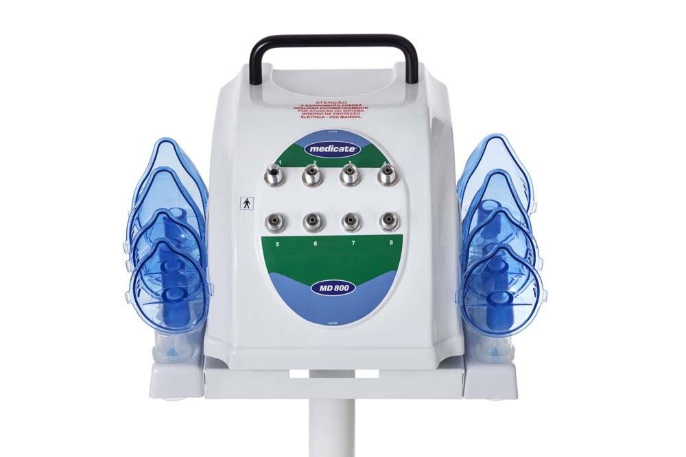 Nebulizador hospitalar 8 saídas com suporte MD800 Medicate