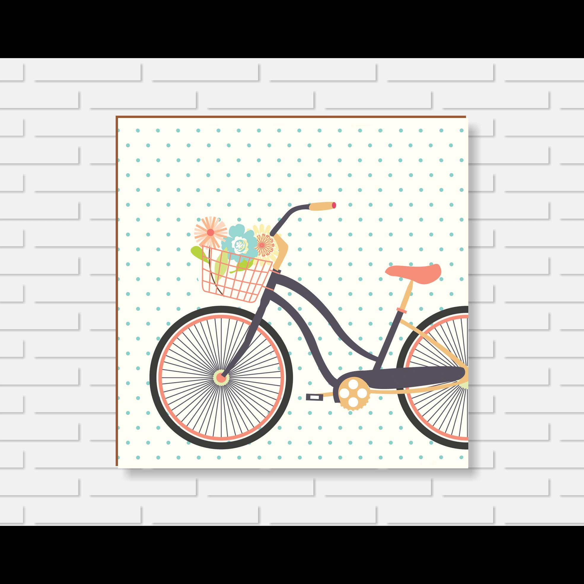 Quadro Decorativo - Bicicleta - 20x20cm ou 30x30cm