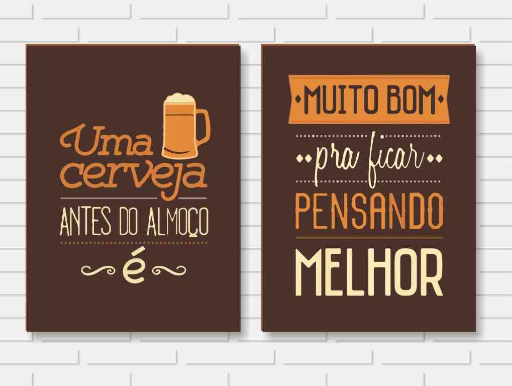 Quadro Decorativo - Frase Cerveja - 24x30cm ou 30x40cm