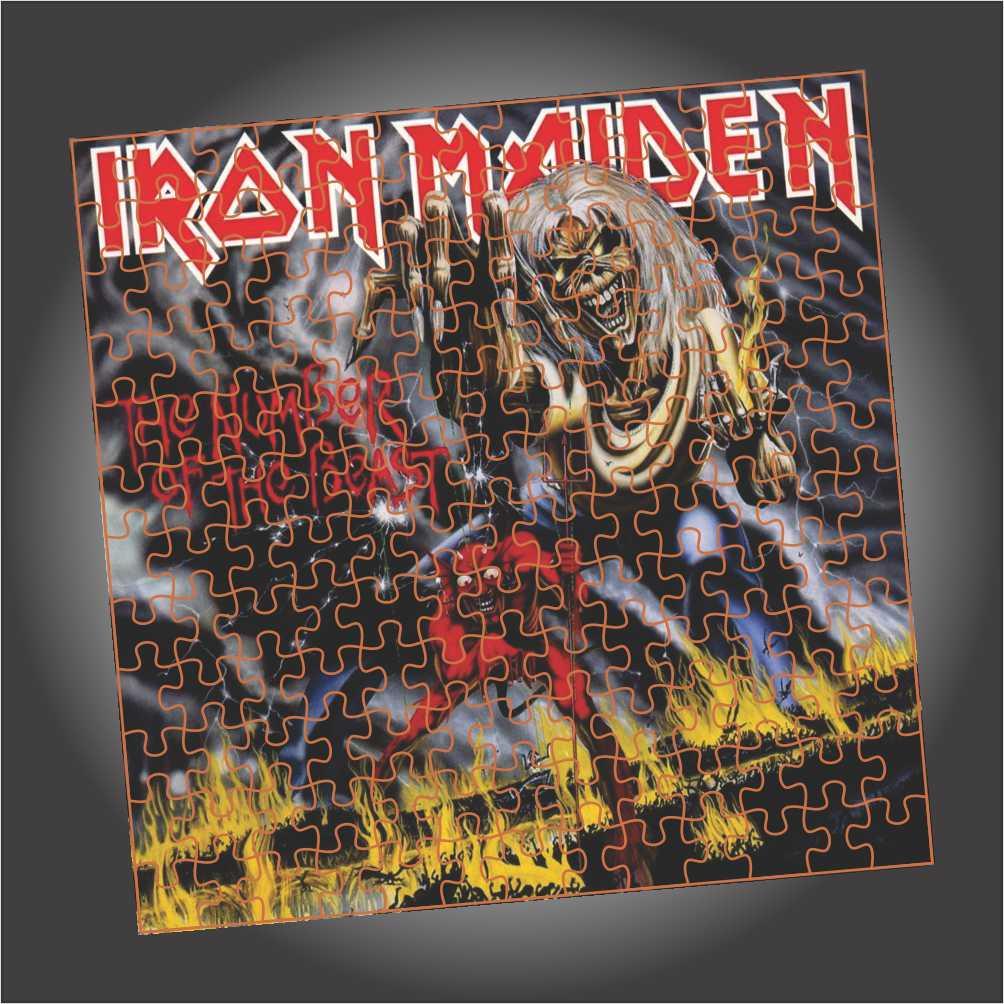 Quebra Cabeça Iron Maiden - The Number Of The Beast - Edição LIMITADA - Quadrado