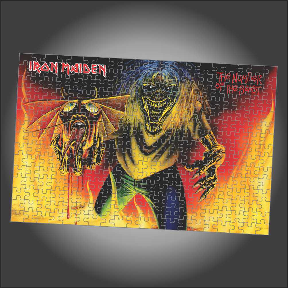 Quebra Cabeça Iron Maiden - The Number Of The Beast - Edição LIMITADA - Retangular