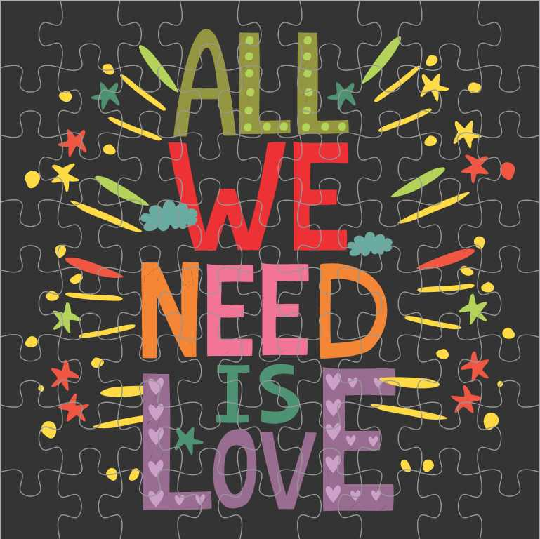 Quebra Cabeça Romântico - All We Need Is Love