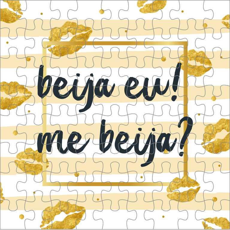 Quebra Cabeça Romântico - Beija Eu Me Beija
