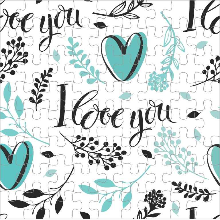 Quebra Cabeça Romântico - I Love You