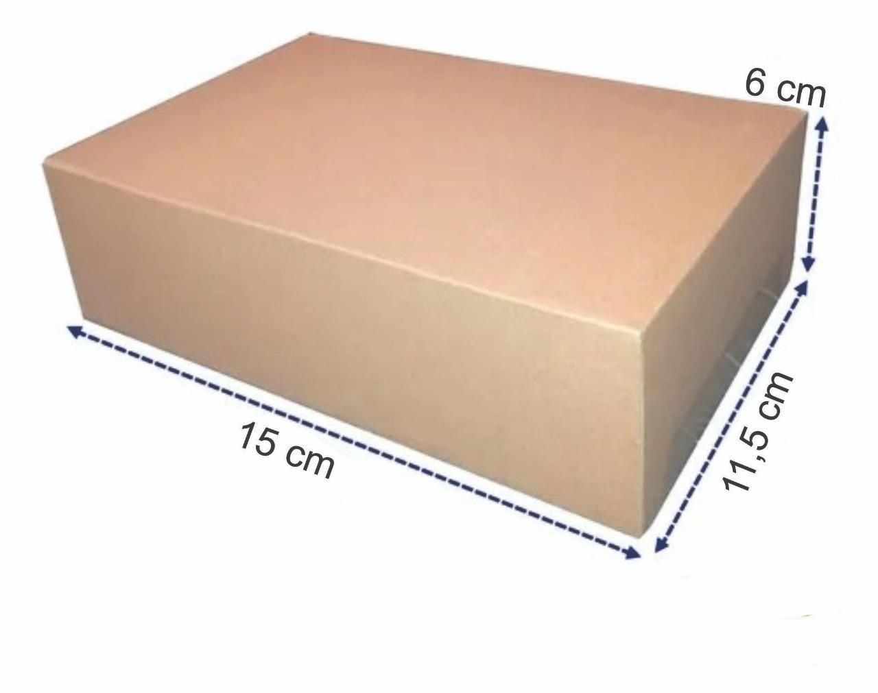 50 Caixas de Papelão Embalagem para os Correios 15 x 11,5 x 6