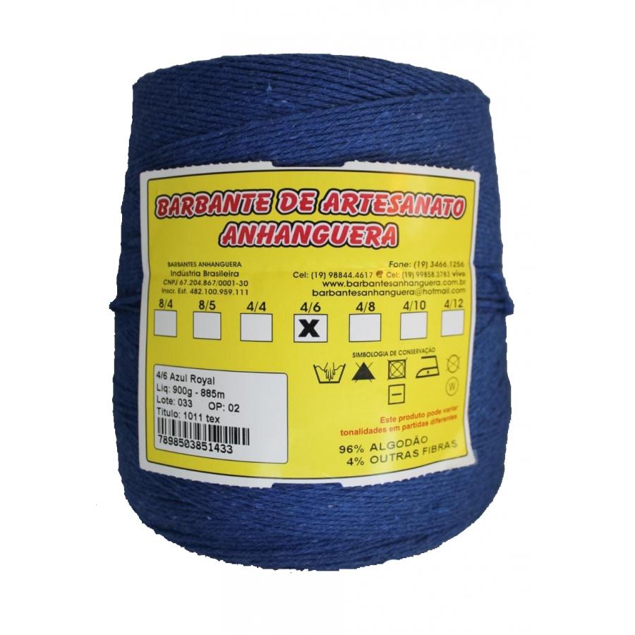 Barbante 4/6 900g 885m Azul Royal - Anhanguera