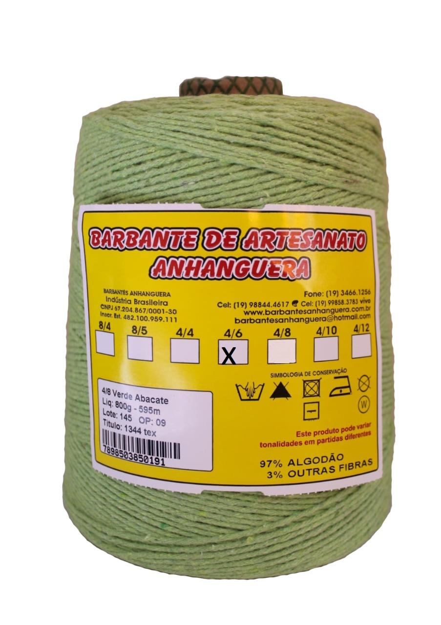 Barbante 4/6 900g 885m Verde Abacate - Anhanguera