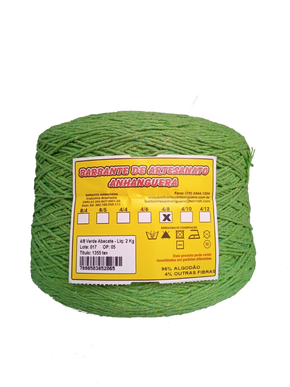 Barbante 4/8 2kg Verde Abacate - Anhanguera