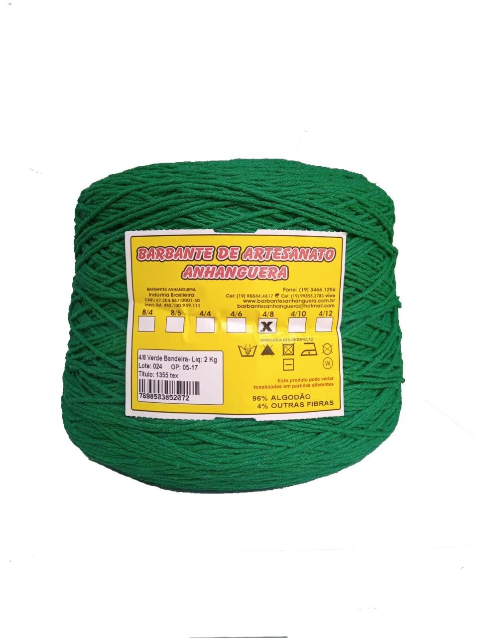 Barbante 4/8 2kg Verde Bandeira - Anhanguera