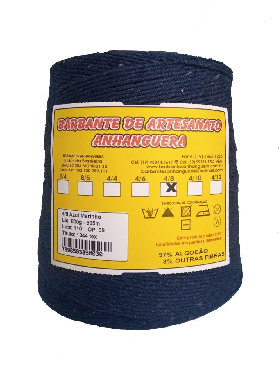 Barbante 4/8 800g 590m Azul Marinho - Anhanguera