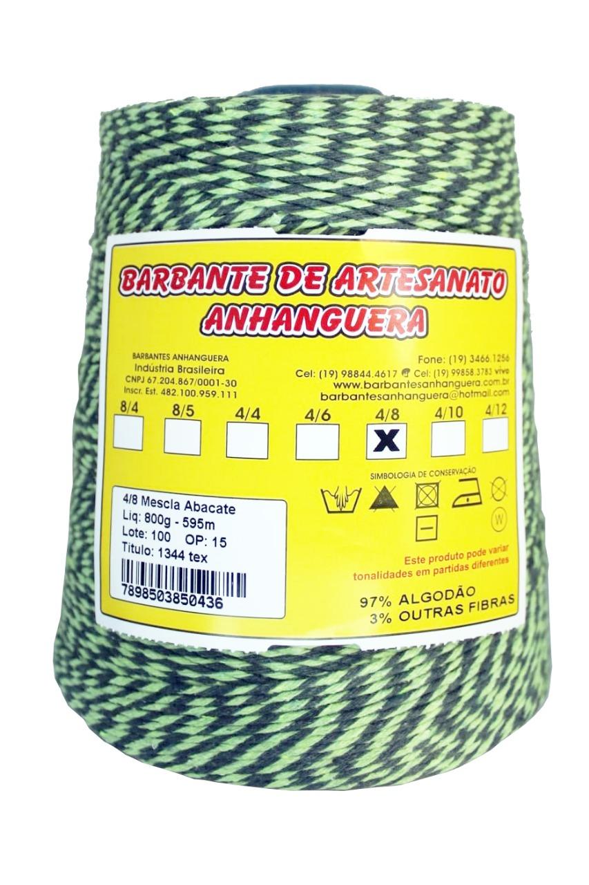 Barbante 4/8 800g 590m Mescla  Abacate - Anhanguera