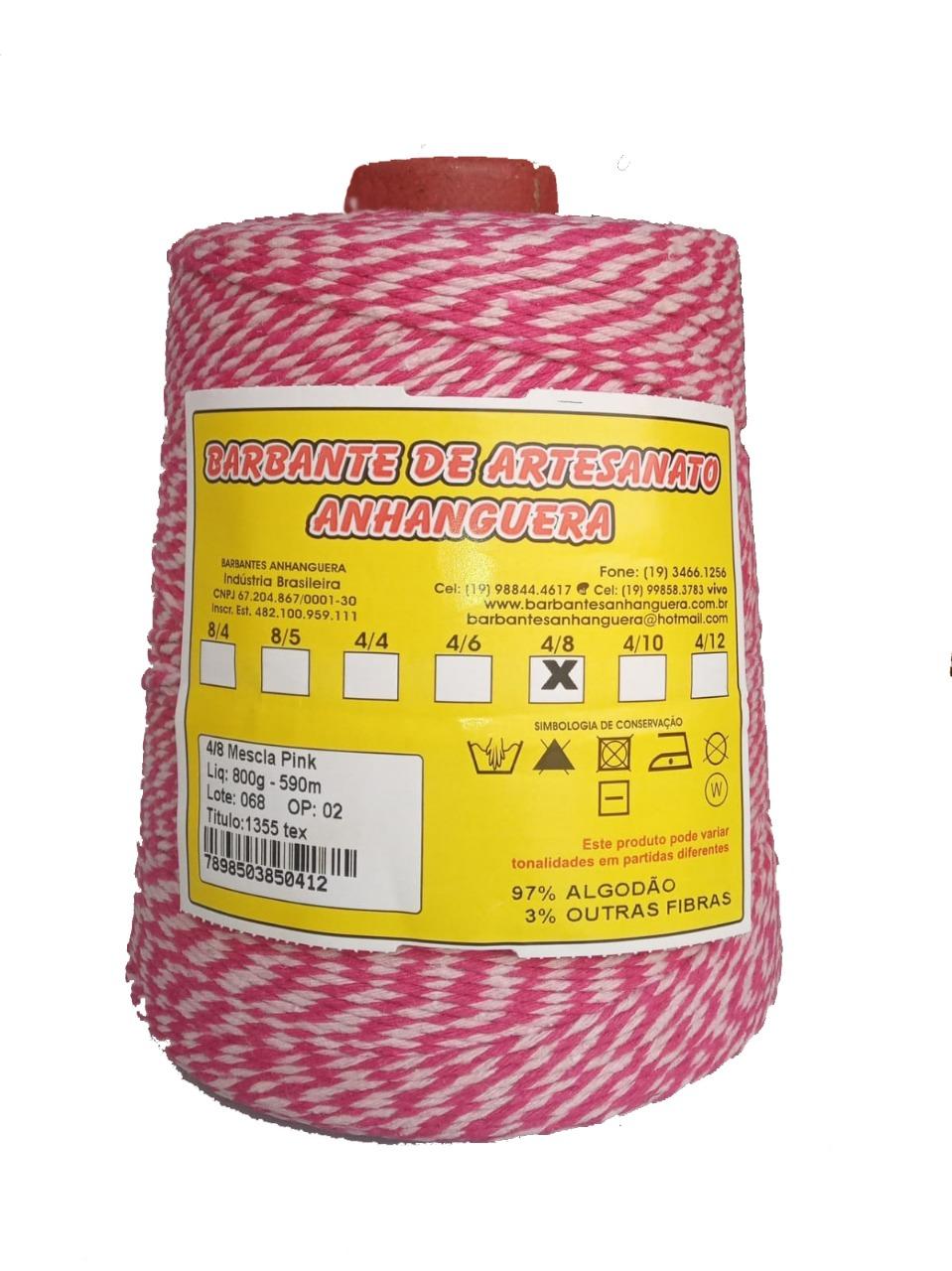 Barbante 4/8 800g 590m Mescla Pink - Anhanguera