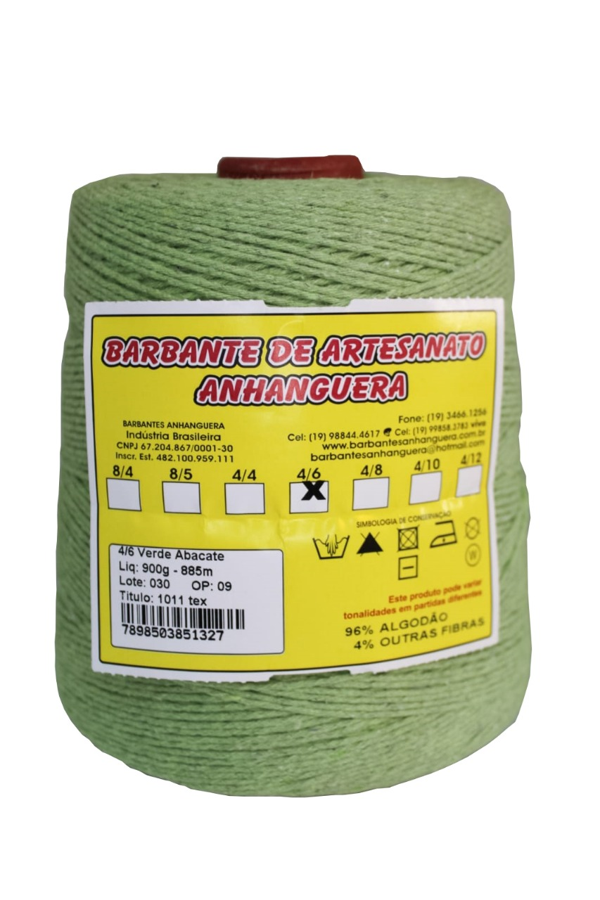 Barbante 4/8 800g 590m Verde Abacate - Anhanguera