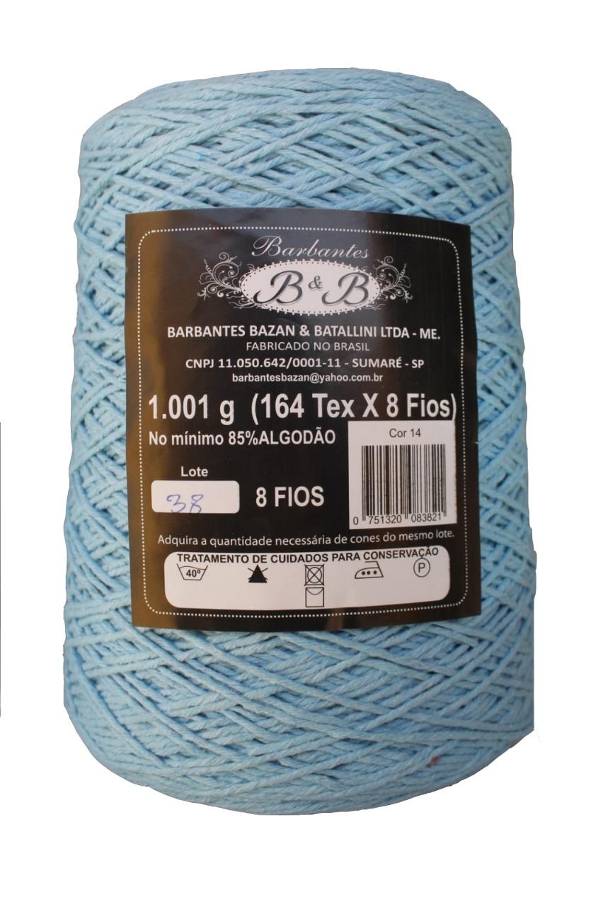 Barbante 8 Fios 1K Azul Bebê - B&B