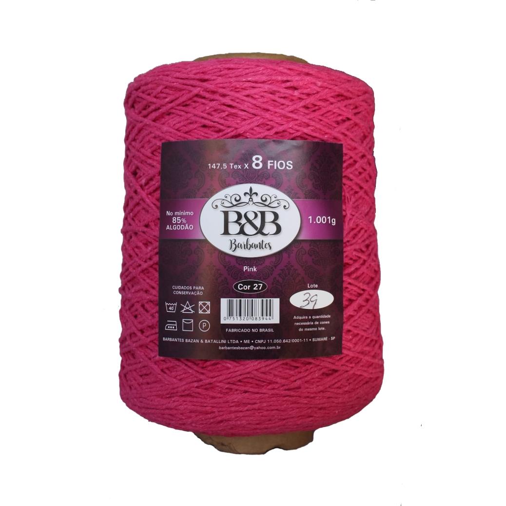 Barbante 8 Fios 1K Pink - B&B