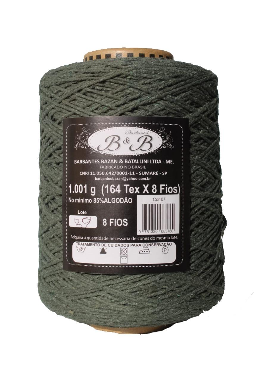 Barbante 8 Fios 1kg Verde Musgo - B&B