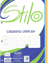 Bloco de Fichário Colorido 96 Fls - Jandaia