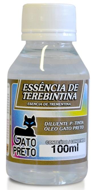 Essência de Terebintina 100ml Gato Preto