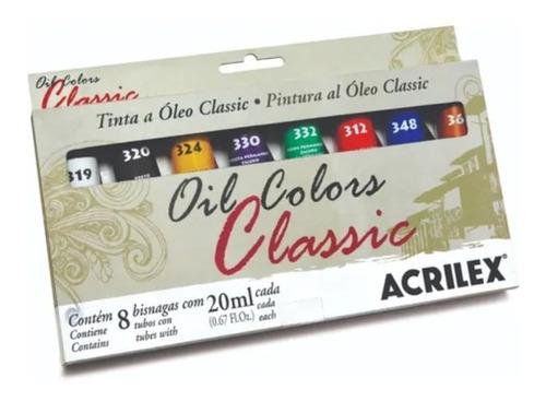 Estojo De Tinta A Óleo Oil Colors Classic 8 Bisnagas Acrilex
