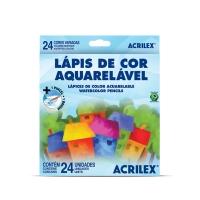 Lápis de Cor 24 Cores Aquarelável Acrilex