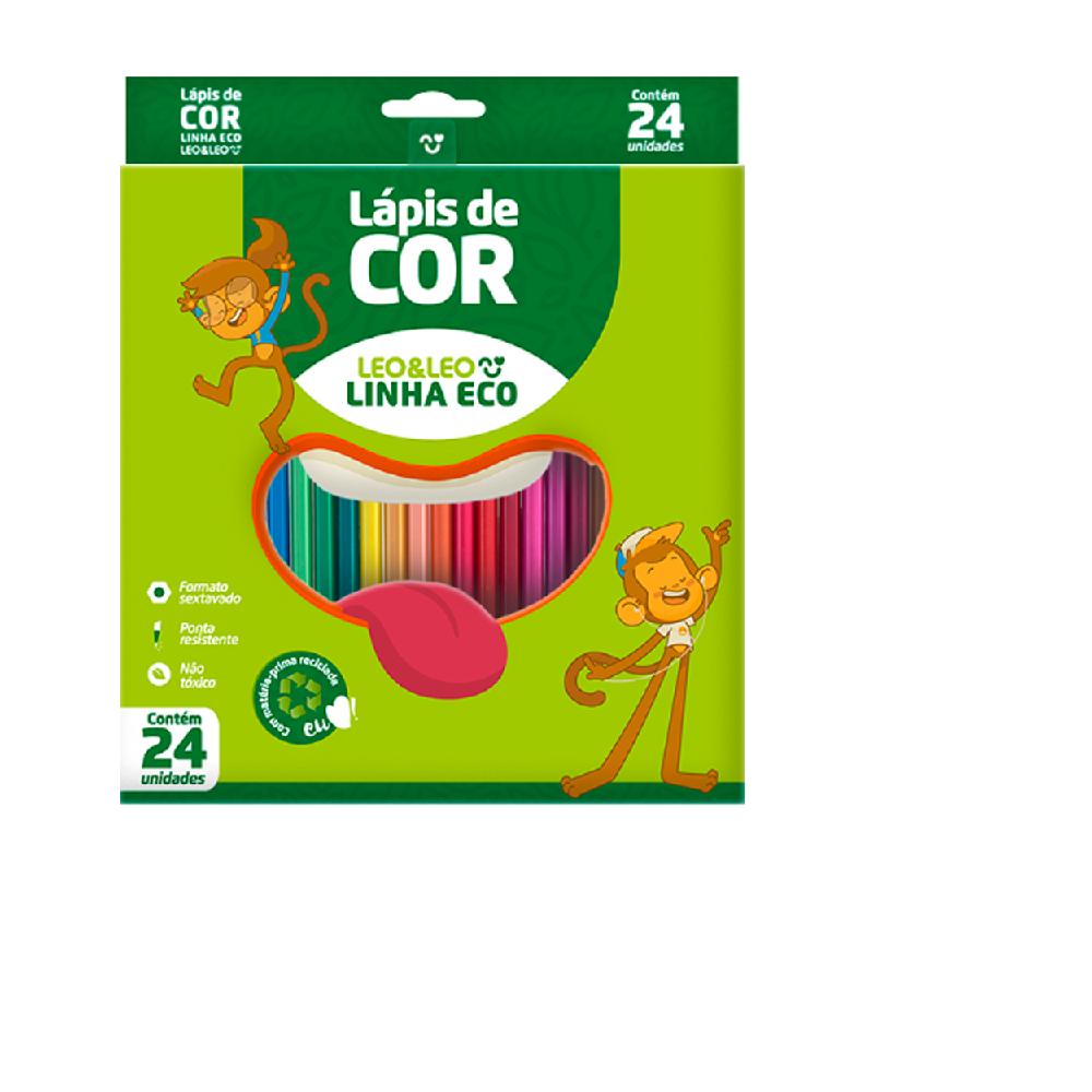 Lápis de Cor 24 Cores Leonora