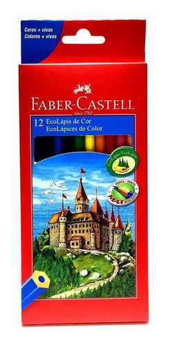 Lápis De Cor Ecolapis Ponta Max Faber Castell 12 Cores