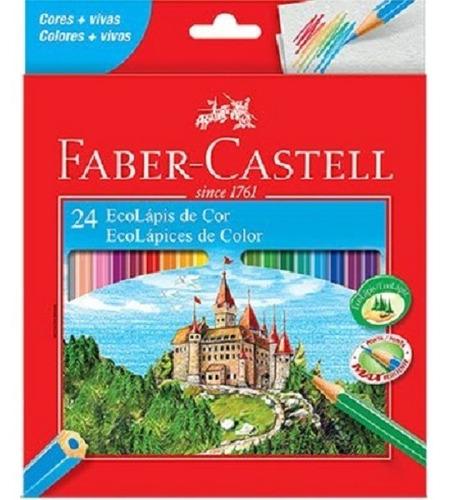 Lápis De Cor Ecolapis Ponta Max Faber Castell 24 Cores