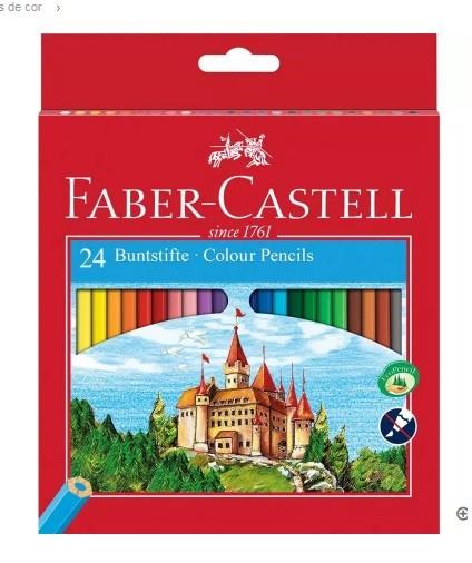 Lapis de Cor Sextavado Sem Kit 24 Cores Faber-Castell