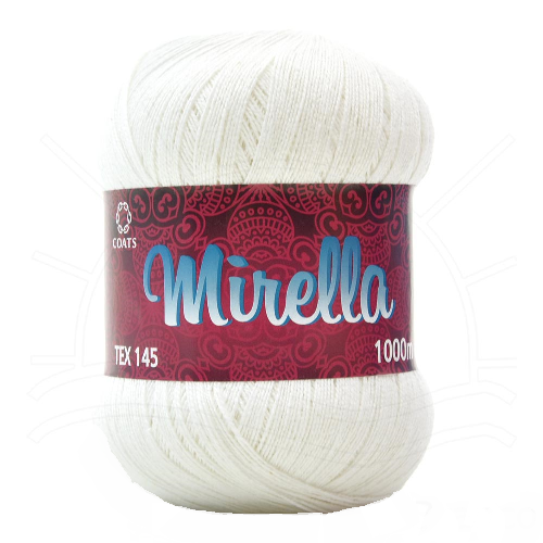 Linha de Crochê Mirella 1000m Ref 0000B - Coats Corrente