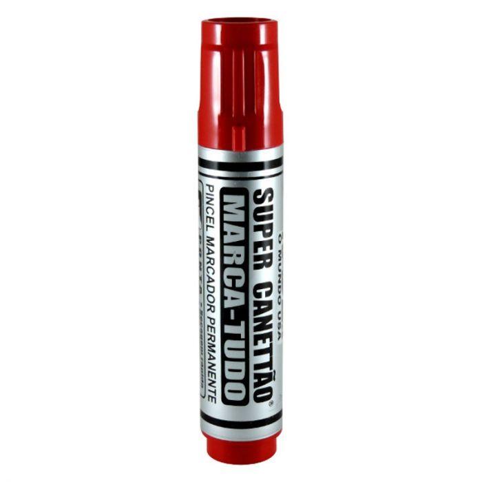 Marcador Permanente Super Canetão 17x8mm Vermelho Radex