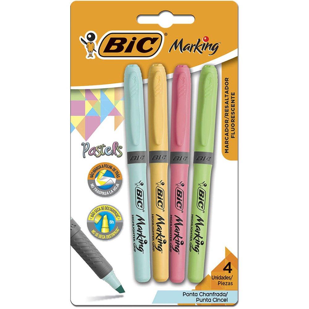 Marcadores Permanente Marking 4 Cores Pastel Bic