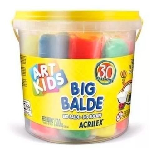 Massinha De Modelar Big Balde C/ 30 Massinhas Acrilex Soft
