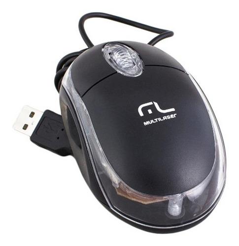 Mouse Òptico Classic Preto Mo179 Preto - Multilaser