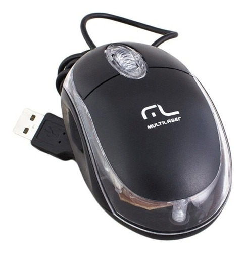 Mouse Òptico Classic Preto Mo179 Preto - Multilaser - Preto